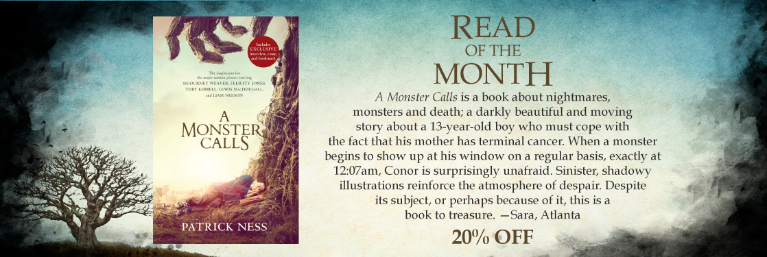 A Monster Calls Patrick Ness Read of the Month
