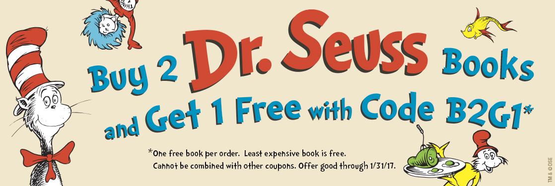 Dr Seuss Buy 2 Get 1 Free